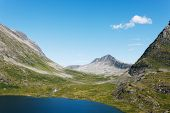 Lake on the top of mountains, Norway