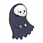 stock photo of ghoul  - cartoon spooky ghoul - JPG