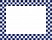 Navy Blue And White Checkered Frame