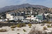 LA CANADA FLINTRIDGE, CALIFORNIA - January 8, 2014:  View of historic Jet Propulsion Laboratory in S