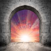 stock photo of gates heaven  - Way to heaven - JPG