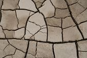 stock photo of loam  - cracked soil for background or texture design - JPG