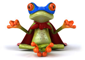 picture of amazonian frog  - Frog doing yoga - JPG