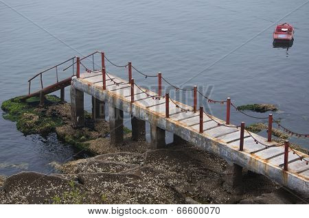 Cement Boat Dock
