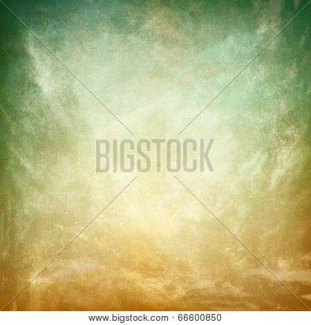 Vintage texture paper background with  brown to green gradient
