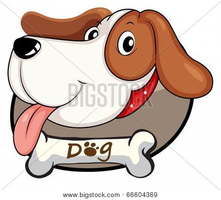 Illustration of a cute dog on a white background