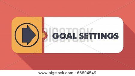 Goal Settings on Scarlet in Flat Design.