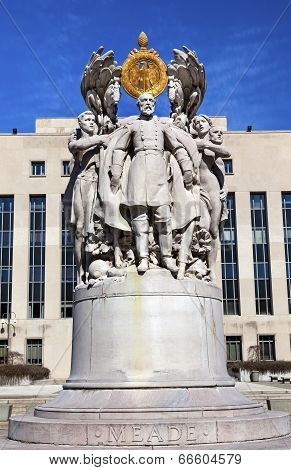 George Gordon Memorial Civil War Statue Pennsylvania Ave Washington Dc.  Main Union General At Getty