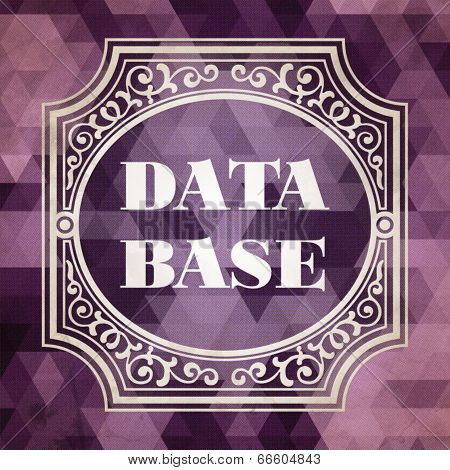 Data Base Concept. Vintage design.