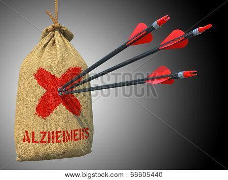 Alzheimers - Arrows Hit in Red Mark Target.