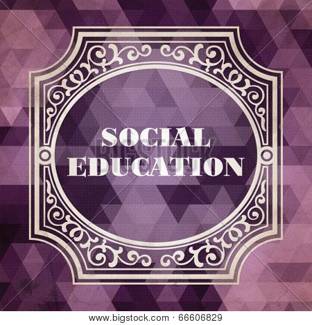 Social Education Concept. Vintage design.
