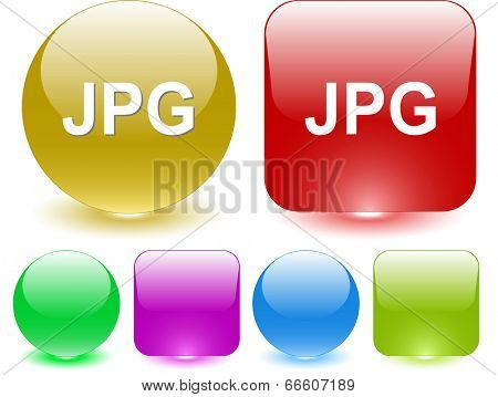 Jpg. Interface element. Raster illustration.