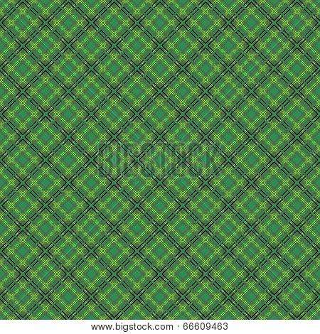 Seamless Mesh Pattern Over Green