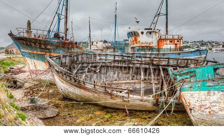 Old Decaying Boats