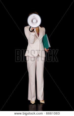 Businesswoman, Megaphone