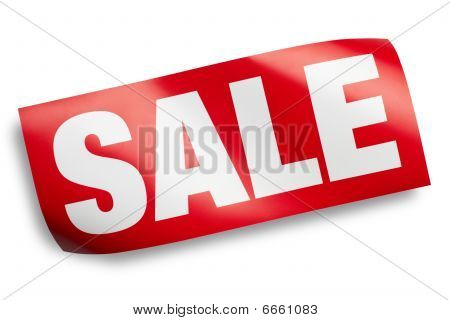 Sale Sign Isolated With Clipping Path