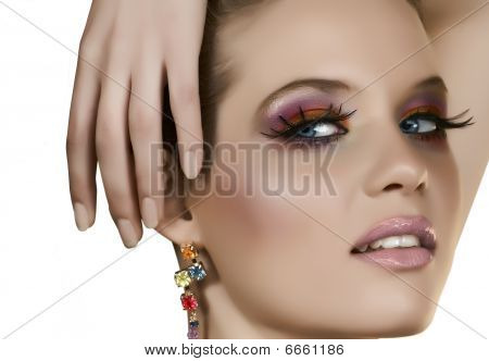 Beautiful Blond With Fake Lashes