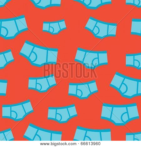 Seamless little boy blue under pants funny underwear illustration background pattern in vector