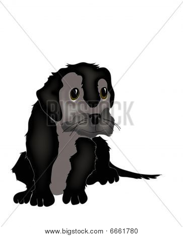 Illustration of a puppy