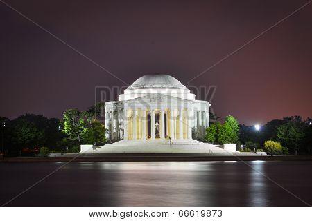 Jefferson Memorial at night - Washington D.C. USA
