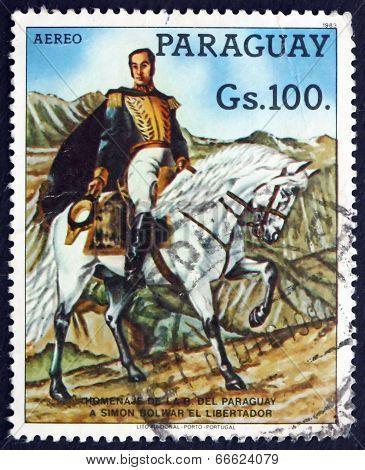 Postage Stamp Paraguay 1984 Simon Bolivar