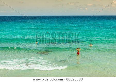 Cala Nova Beach In Ibiza Island In Balearic Mediterranean