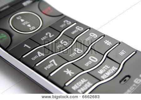 Modern Cordless Phone Keypad