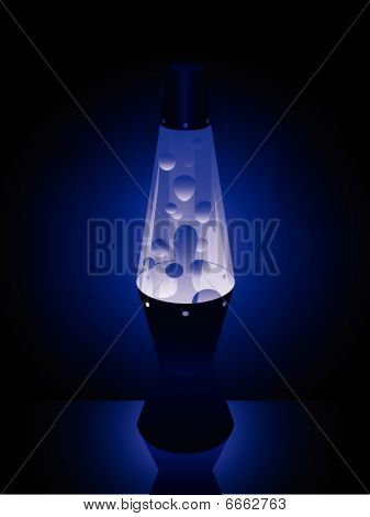 Lavalamp in blue