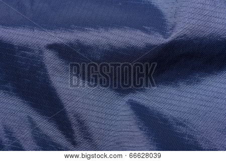 Close-up detail of nylon ripstop waterproof material