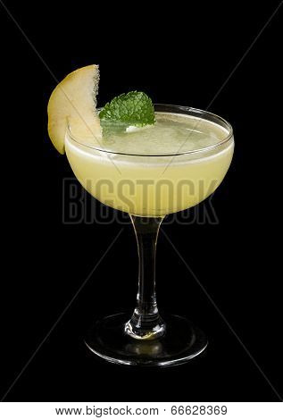 Alcohol Cocktail In Glass On Black Background