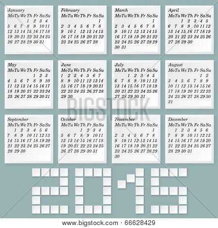 Simple 2015 Calendar