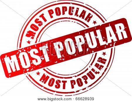 Vector Most Popular Stamp