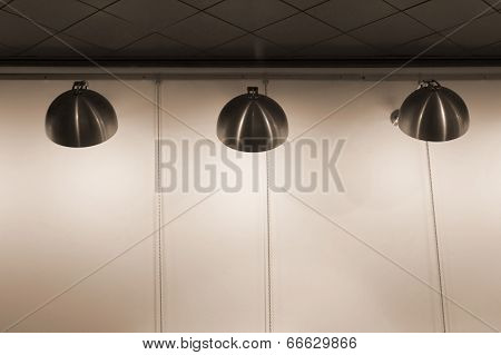 Modern stainless steel lamps