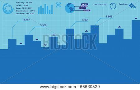 Vetor business infographic