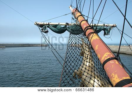Bowsprit On Sailing Vessel