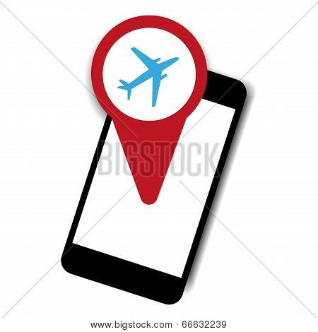 Mobile airplane theme vector