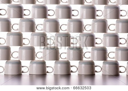 Abstract Background Of Drying Coffee Cups