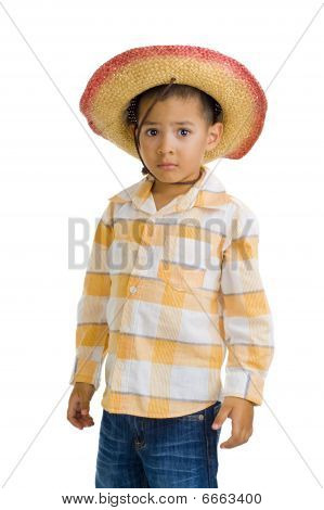 cute Boy mit Cowboy-Hut