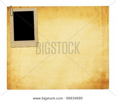 Old Vintage Paper With Grunge Frames For Photos