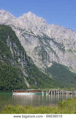 Tourboat In Konigssee In Berchtesgadener