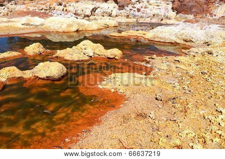 Acidic River Tinto In Andalusia, Spain