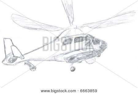 helicopter sketch