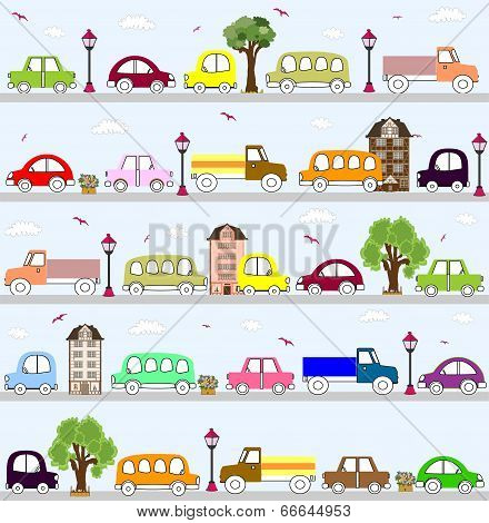 baby vehicle pattern design.