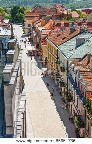 Sandomierz, Poland - May 23: Panorama Of The Historic Old Town, Which Is A Major Tourist Attraction.