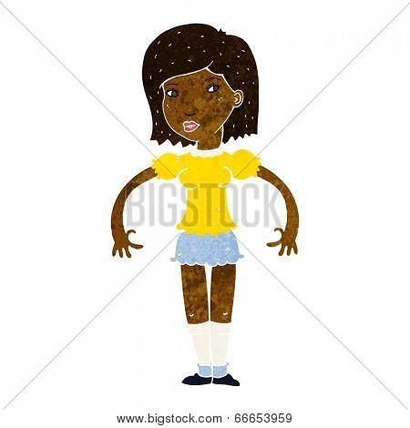 cartoon woman looking sideways