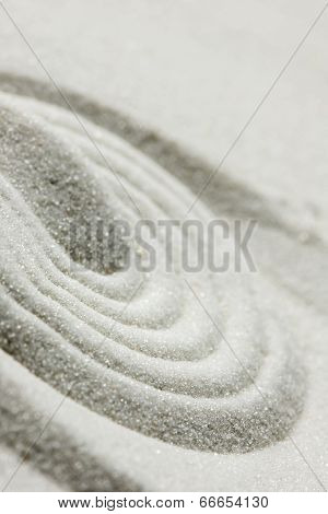 Raked Sand Background Pattern