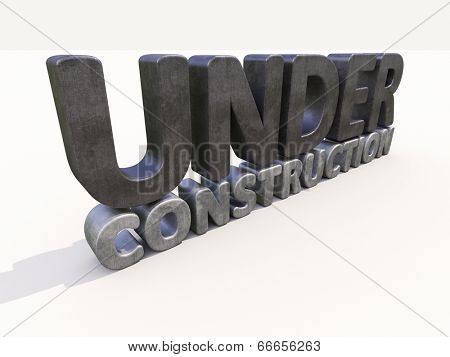 Sign under construction isolated  on white background