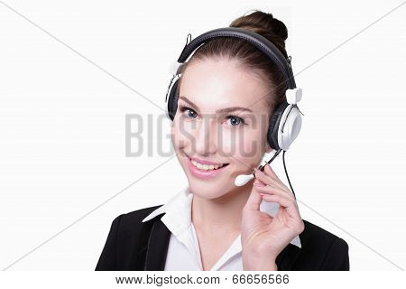 Business Woman Customer Service Worker