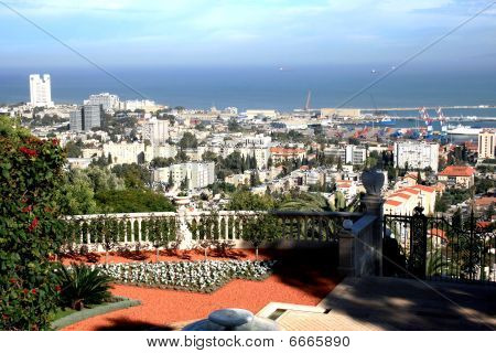 Panorama of Haifa city