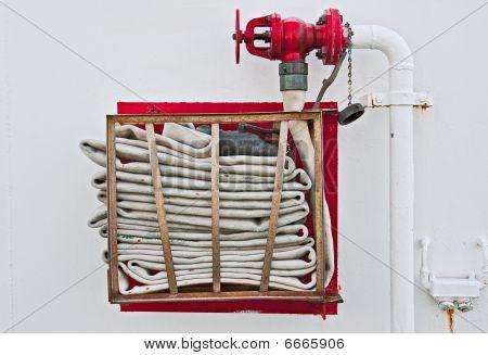Fire Hose On Wall